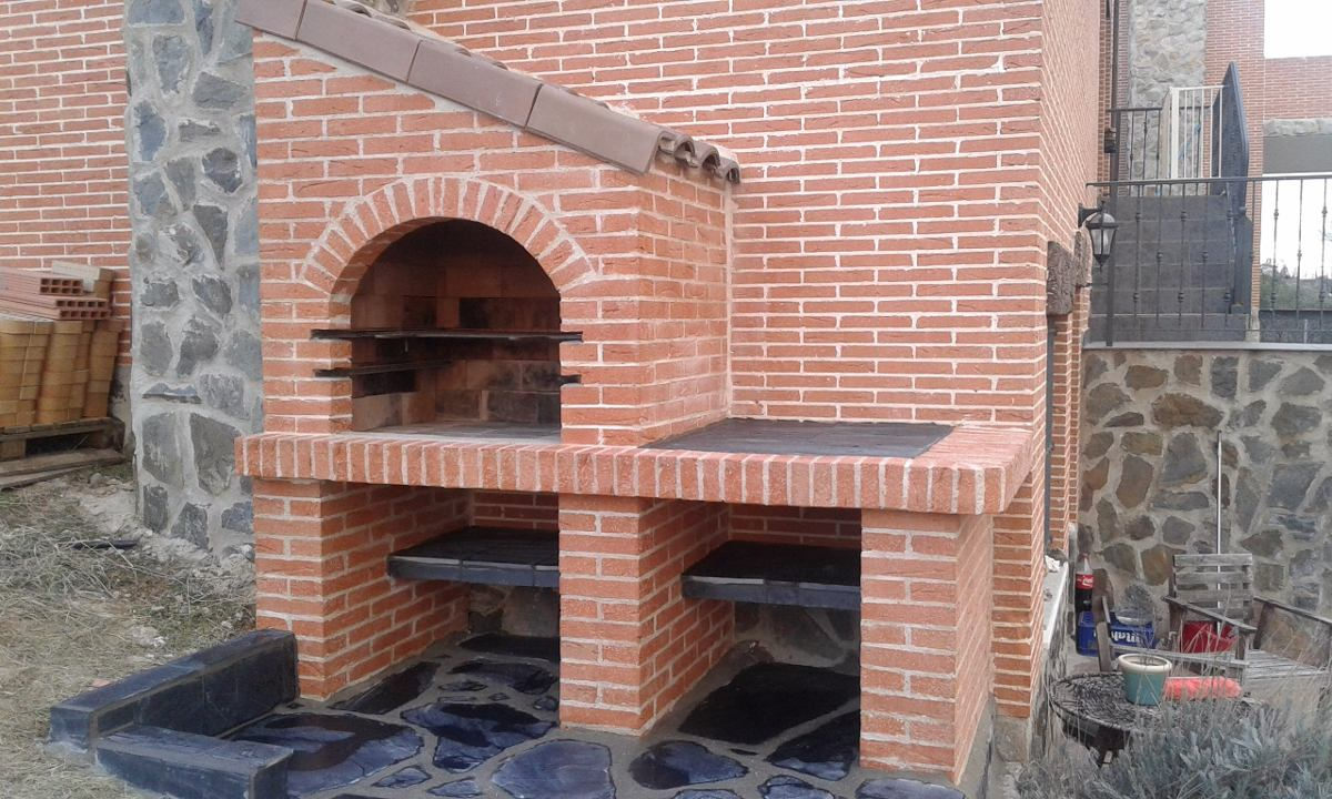 Kit proyecto construye parrillera barbacoa refractaria plano en mercado libre - Chimeneas ladrillo visto ...