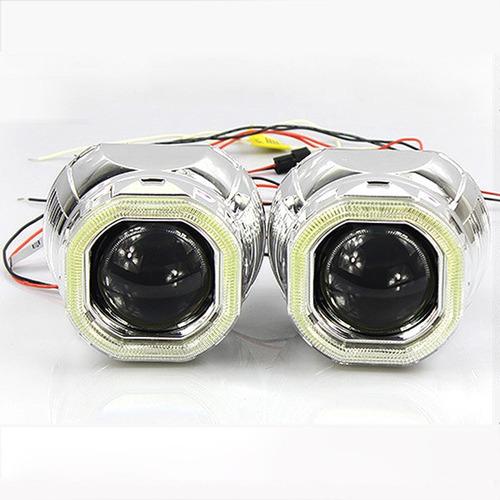 kit proyector lupa de xenon/bixenon ojo de angel ccfl blanco