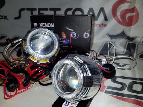 kit proyector ojos de angel con lupa universales medianos
