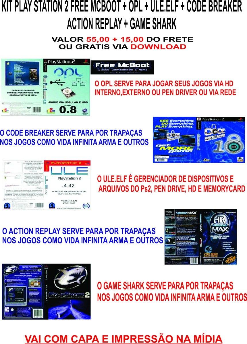 Kit Ps2 Opl + Ule + Codebreaker + Game Shark + Action Replay
