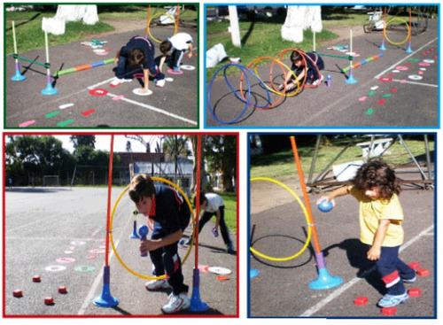 kit psicomotricidad infantil didactico 63 piezas vallas aros
