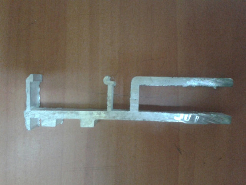 kit puerta colgante riel tapa y fijo  en aluminio natural
