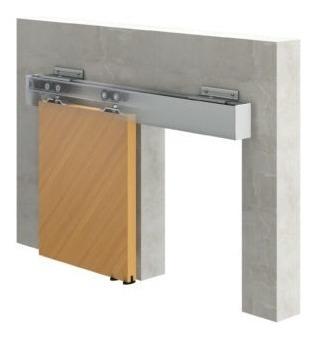 kit puerta corrediza mr plus 2.0 3mts aluminio anodizado