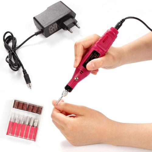 kit pulidor de uñas eléctrico removedor acrilico manicure