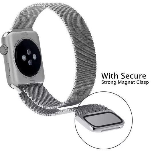 50678700144 Kit Pulseira Aço Milanês + Pelicula - Apple Watch 38-42mm - R  70