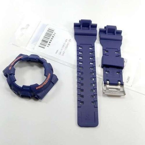 kit pulseira + bezel gd-100 gd-120 casio g-shock azul