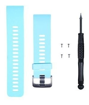 kit pulseira completa original garmin forerunner 35 azul br