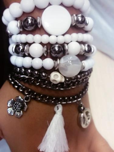 kit pulseira feminina 70 pecas pulseirismo atacado revenda