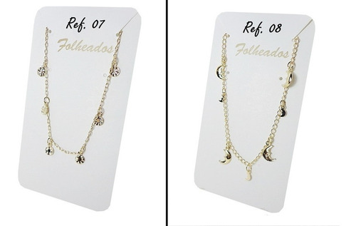 kit pulseira folheado ouro 25 pç semi joias feminina atacado