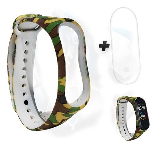 kit pulso negro / gris y screen protector para xiaomi mi ban