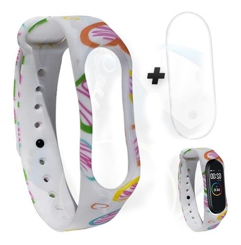 kit pulso verde y screen protector para xiaomi mi band 4