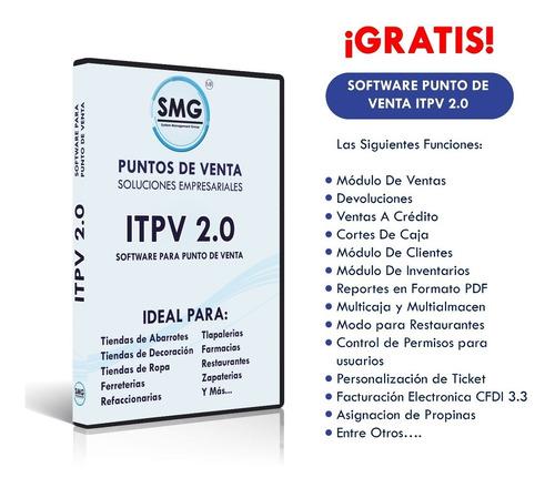 kit punto de venta cajon ecline + miniprinter pos58 software