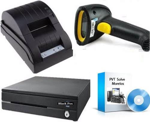 kit punto de venta cajon +lector usb+ miniprinter +programa