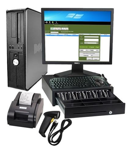 kit punto de venta - pc uso- lector miniprinter cajon nuevos
