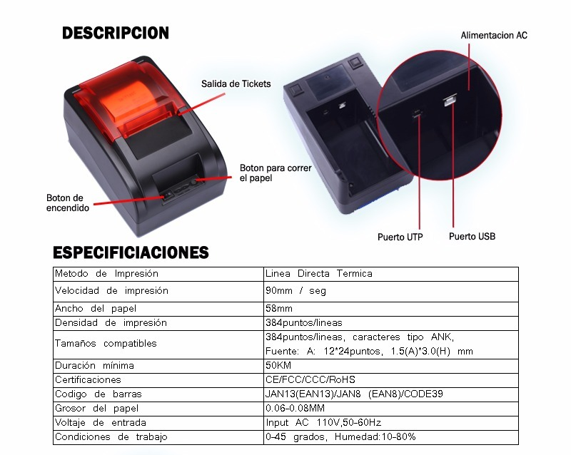 Kit Punto De Venta Impresora Cajon Lector 1 940 00