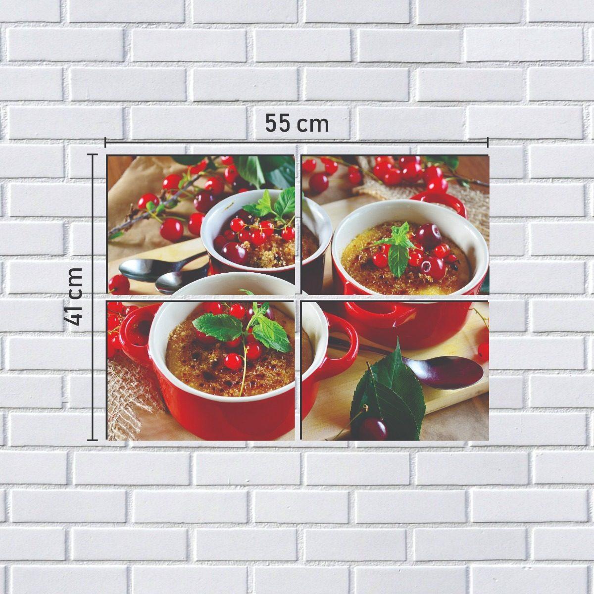 Kit Quadro Decorativo 4 Partes Cozinha Gourmet Modelo 5 R 79 50