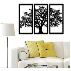 Kit Quadro Decorativo Árvore Da Vida Mdf  3mm