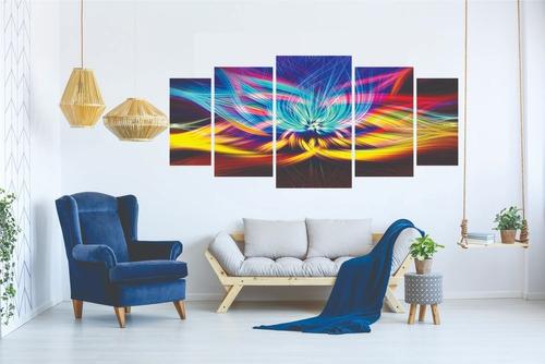 kit quadro decorativo sala peças mosaico flor de lótus