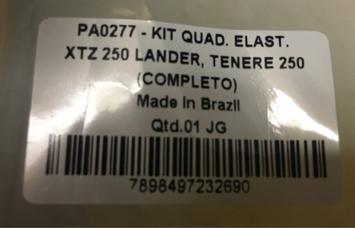 kit quadro elastico + bucha pro link xtz 250 lander ate 2012