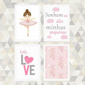 3d9d89f21c Quadro Decorativo Bailarina Infantil no Mercado Livre Brasil