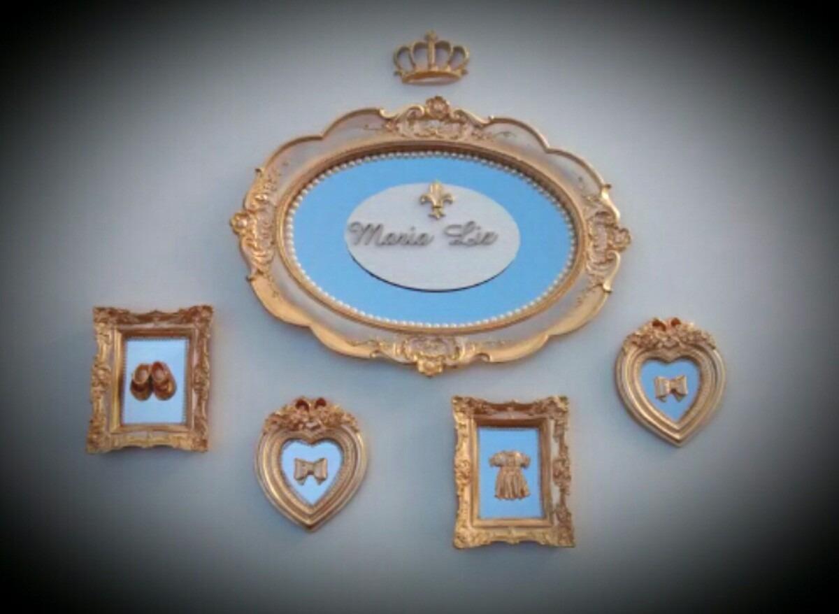 Kit Quadros Para Quarto Do Bebe Em Resina Com Espelho R 300 00  ~ Quadros Para Quarto De Menino E Espelho Decorativo Quarto