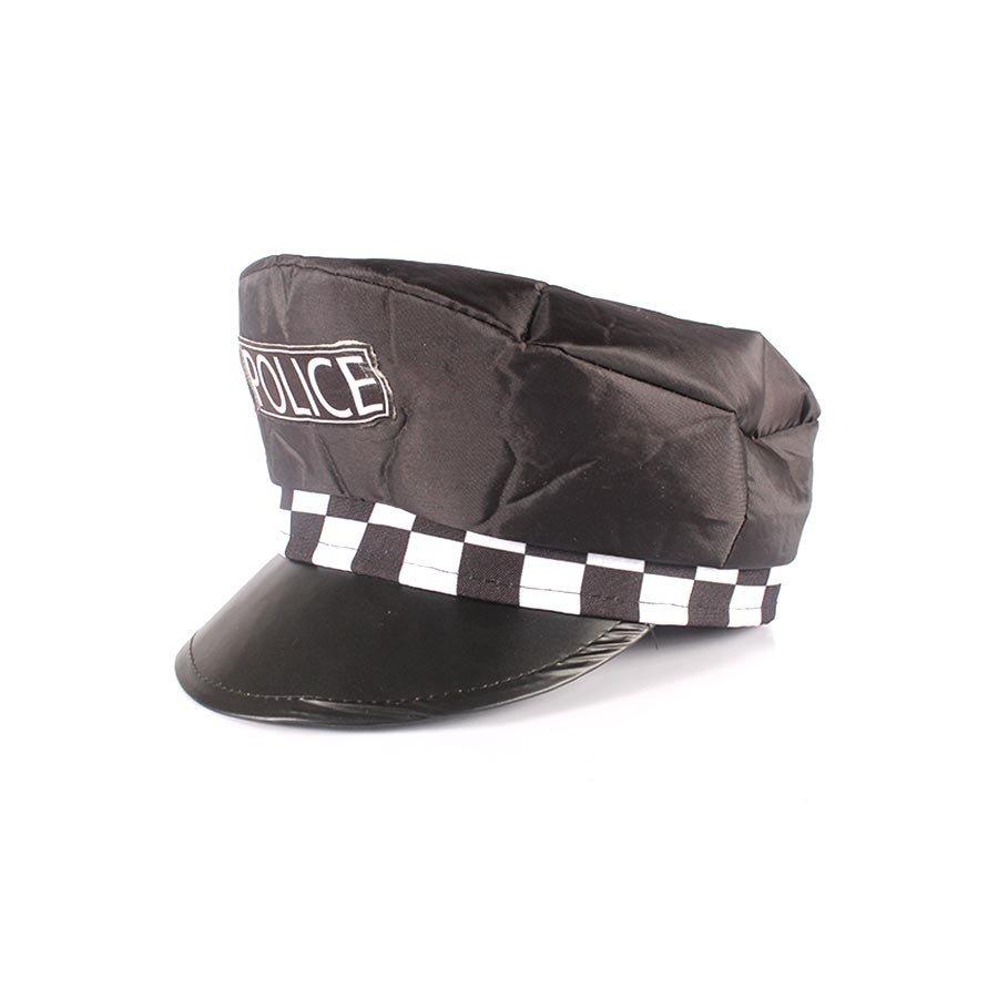 kit quepe policial + algema metalizada - festa cosplay. Carregando zoom. 508fbe103ae