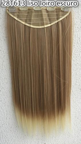 kit rabo de cavalo + aplique tic tac fibra japonesa 60cm