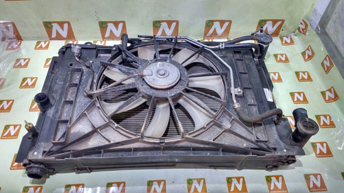kit radiador corolla 2.0 08 10 automatico com detalhe