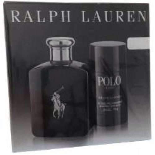 kit ralph lauren polo black edt men 125ml + desodorante 75g