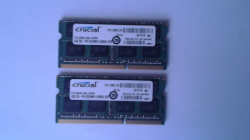 kit ram crucial 8 gb (2x4), 1600 mhz