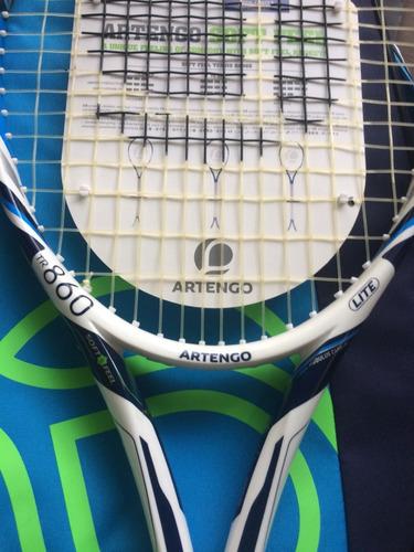 kit raqueta de tenis artengo tr860 lite, con maleta ,6 pelot