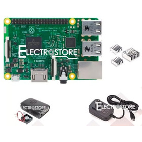 Kit Raspberry Pi 3+ Cargador 5v3a +disipadores+case Original