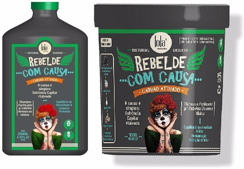 kit rebelde com causa shampoo e máscara - lola