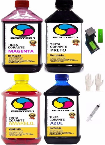 kit recarga 2litros tinta hp lexmark tanque (ep) ecologic