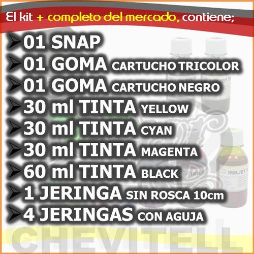 kit recarga cartuchos hp 662 hp 664 hp122 hp21 hp22 snap tin