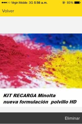 kit recarga refill toner konica bizhub c35 / c25 / c35p