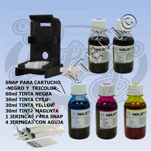 kit recarga tinta snap cartuchos canon mp250 mp280 mx320 210
