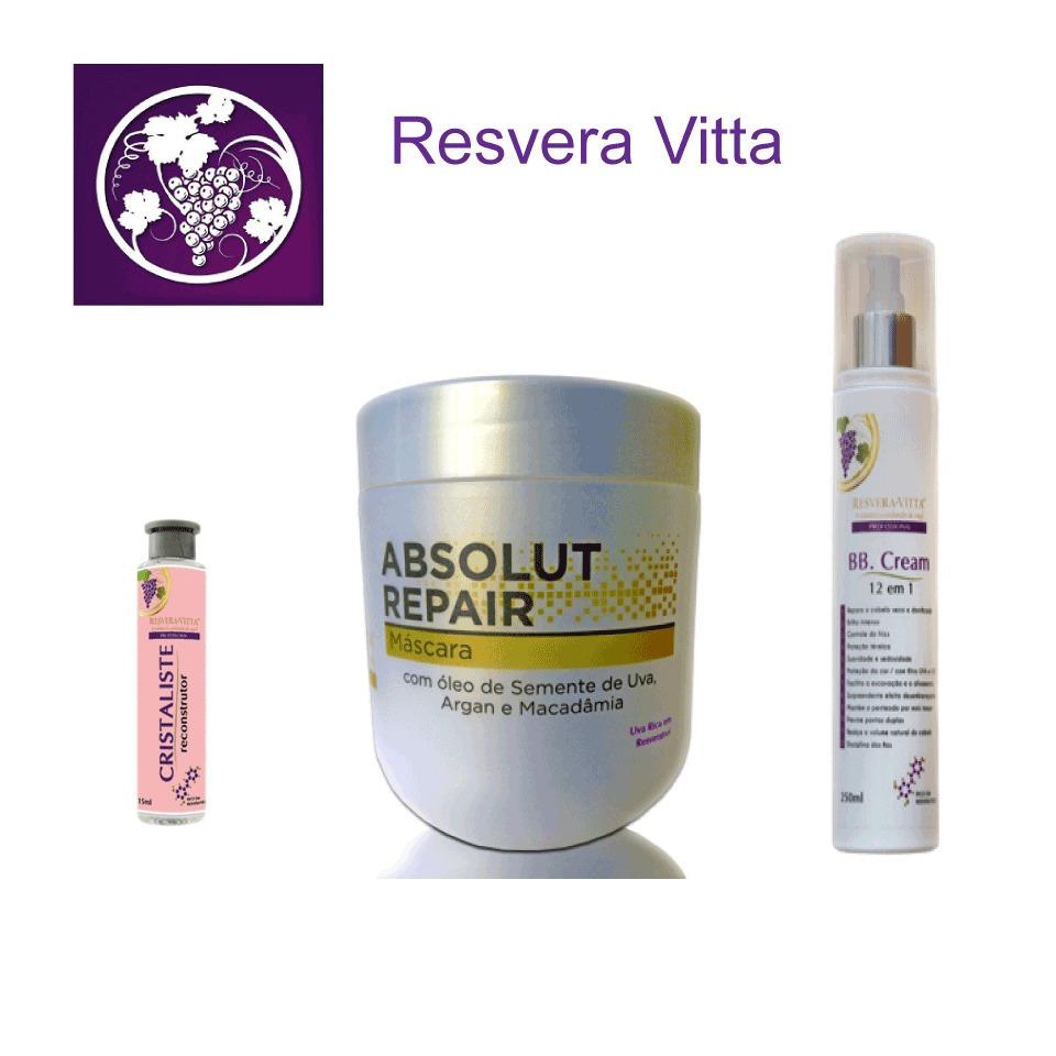 d7a85e35f Kit Reconstrutor Capilar Resvera Vitta - R$ 195,00 em Mercado Livre