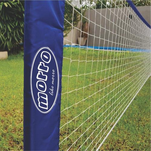 kit red de futbol tenis morro soporte + bolso