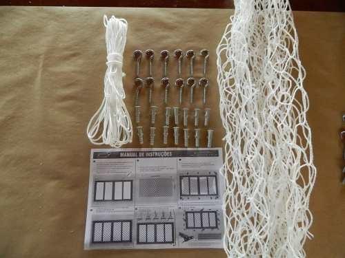 kit rede tela de proteção janelas varandas 13,1 a 14m²