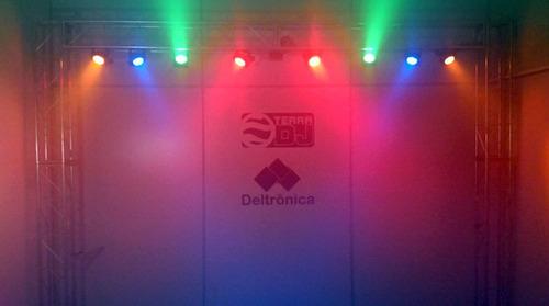 kit refletores iluminação led para palcos luz show e eventos