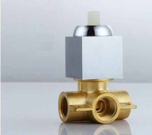 kit regadera metálica y mezclador ducha monocontrol cuadrado