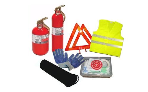 kit reglamentario 6 en 1 emergencia seguridad para autos vtv