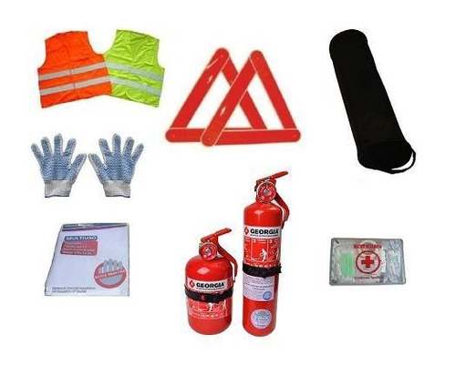 kit reglamentario de emergencia para auto  7 en 1 apto vtv