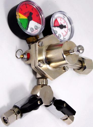 kit regulador cilindro co2 chopp 2 vias + mangueiras