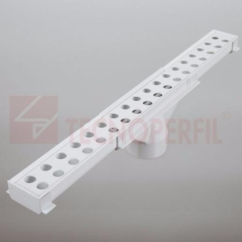 kit rejilla lineal de pvc p/desagüe 1,30mts.