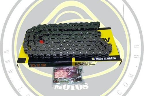 kit relação aço 1045 com retentor dafra next 250 durag + did pinhão 14 002559 / 4590durag com nota
