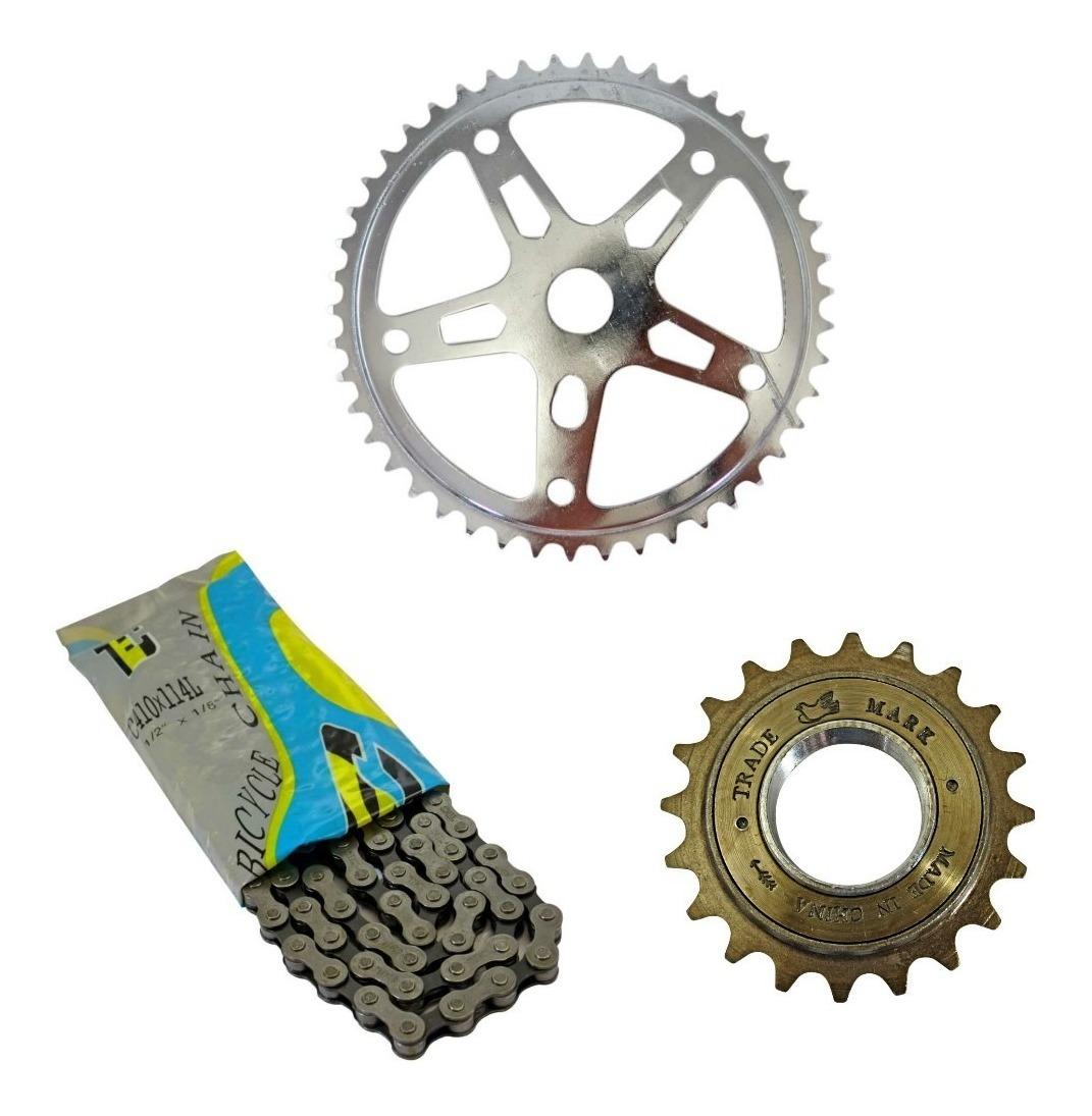 Kit Relacao Bicicleta Caloi Barra Forte Monark Circular R 45 00