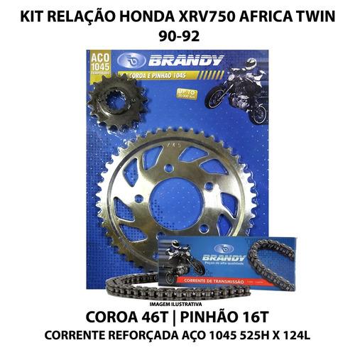 kit relação brandy honda xrv750 africa twin 90-92 aço 1045
