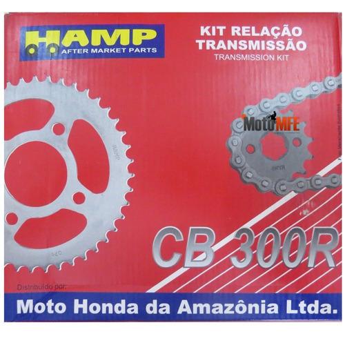 kit relação cb 300r hamp com retentor original